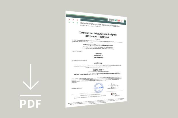 Norme EN 179 - Schlossfarbik Heusser - Coquille encastrée - Détection de serrures - Détection selon la norme EN 179 pour portes à cadre avec une serrure BKS