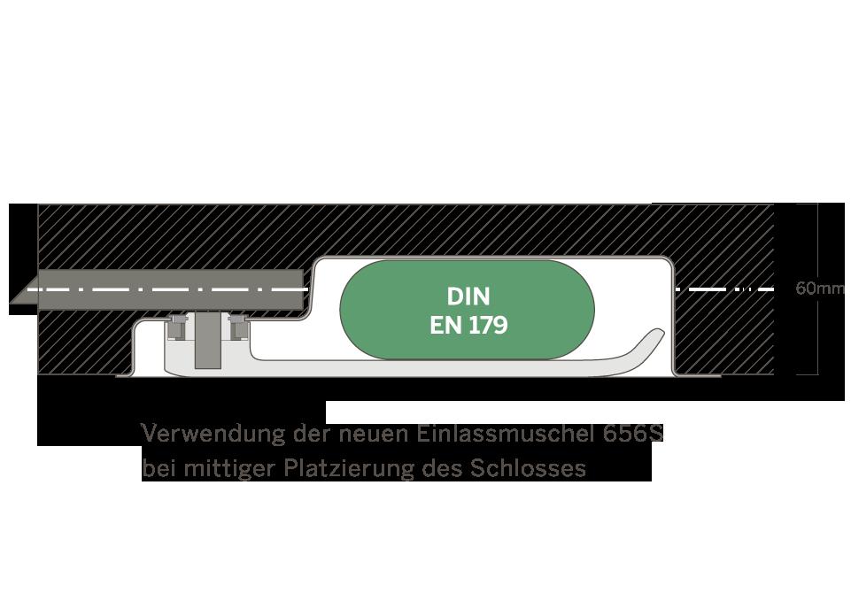 Turnhallenmuschel EN 179 - Schlossfarbik Heuser - EN 179 - Brandschutz